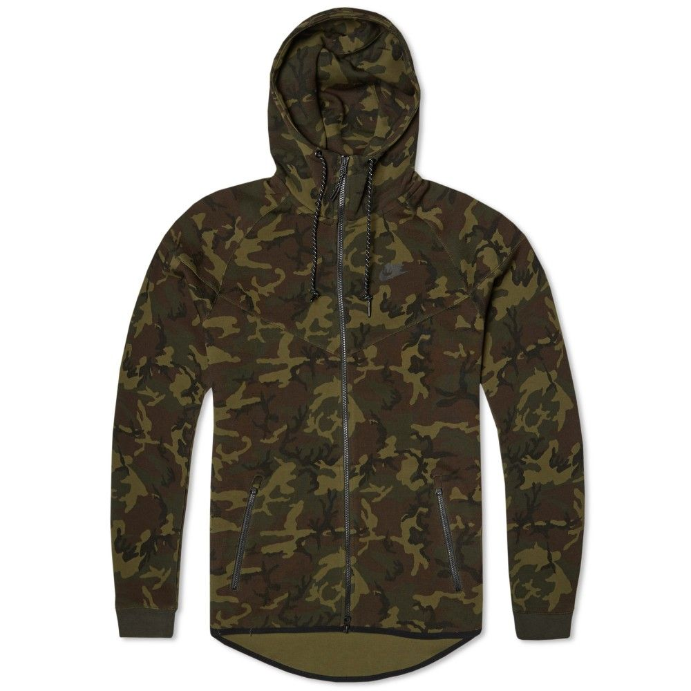 Nike Tech Fleece Camo Windrunner Sequoia Amp Black My