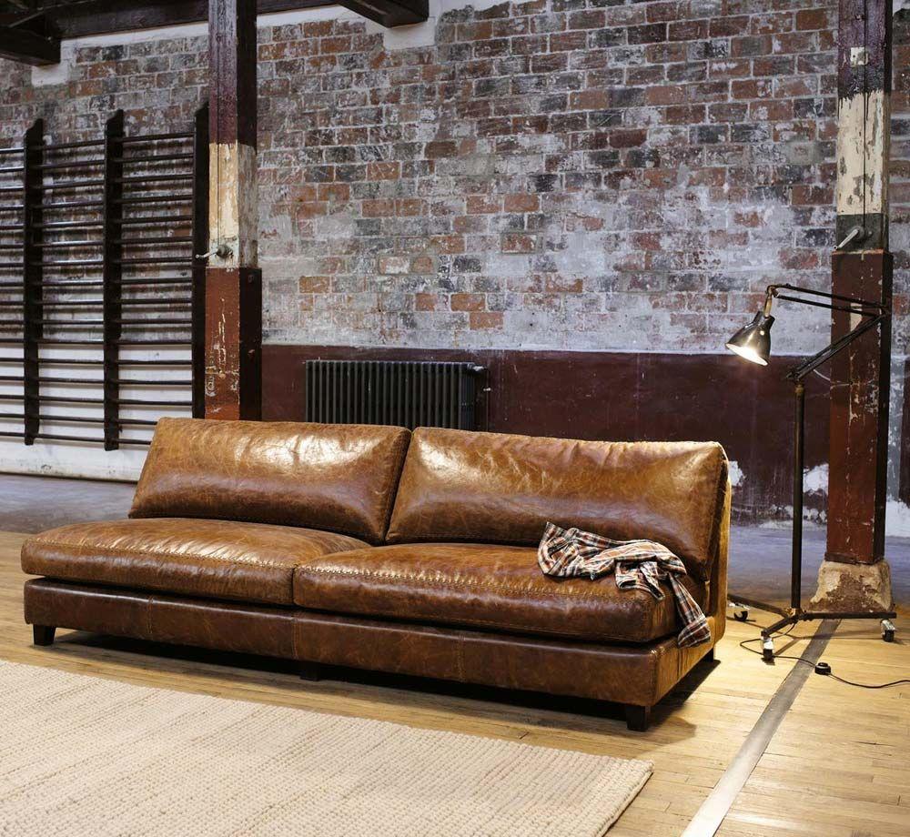 Canapé cuir marron : 15 idées déco pour le salon  Canapé cuir