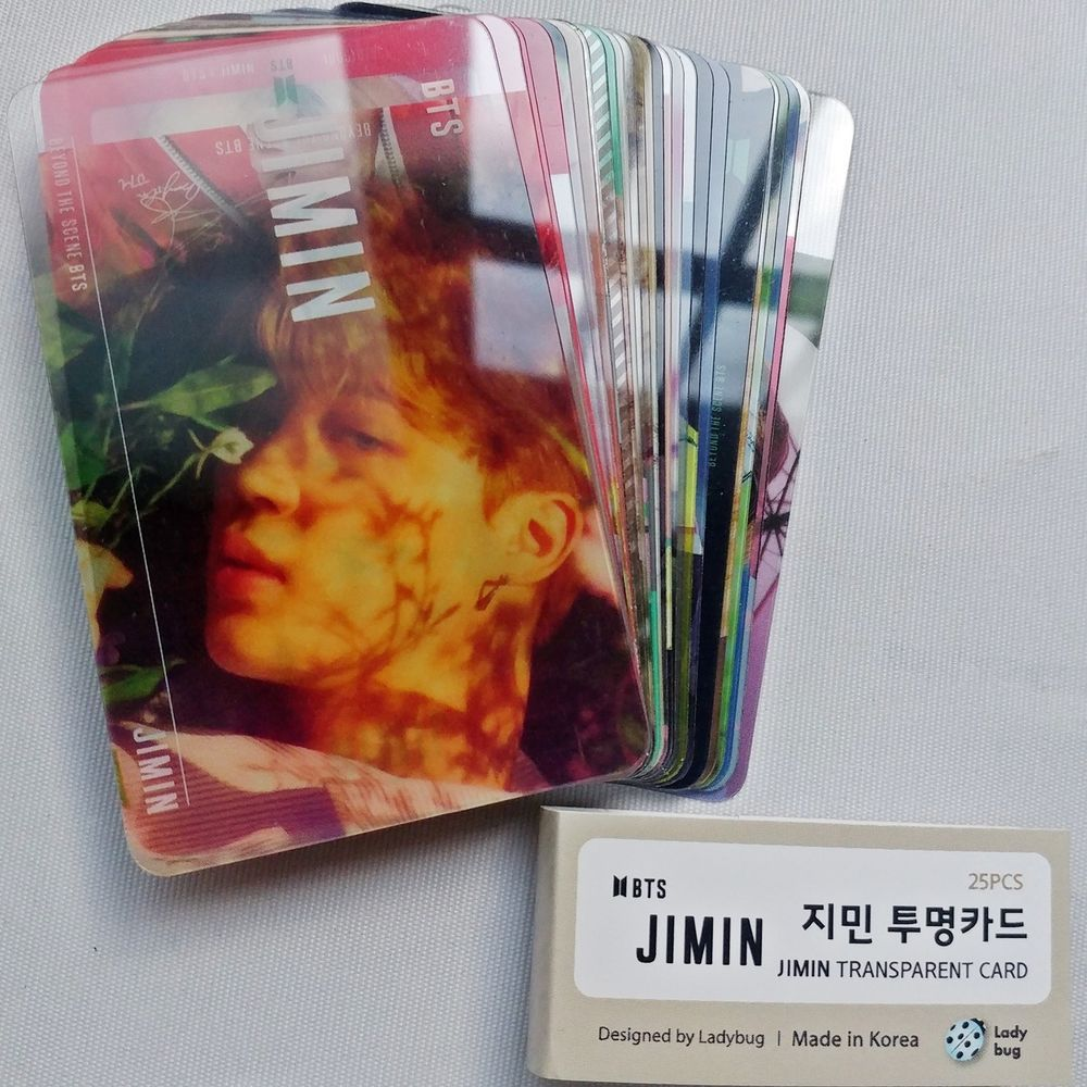 BTS Goods Bangtan Boys Suga Transparent Photo Card 25pcs SET K-POP
