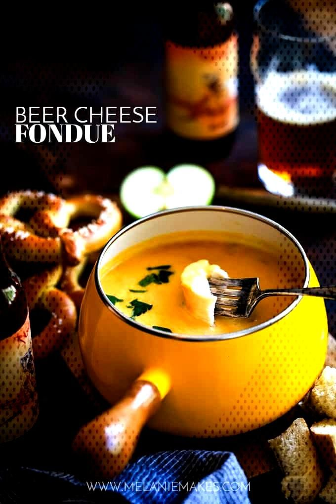 This Beer Cheese Fondue makes for a perfect game day appetizer. Yourfavorite beer, cheddar chee