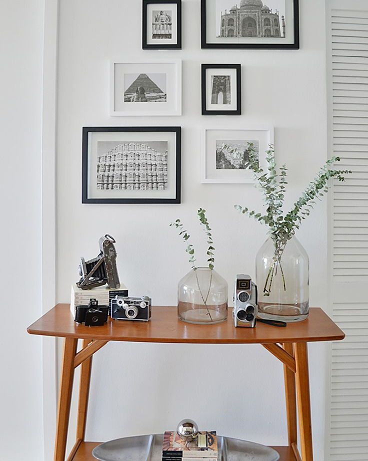 Pleasing Reed Mid Century Console Table Via Know How She Does It Machost Co Dining Chair Design Ideas Machostcouk