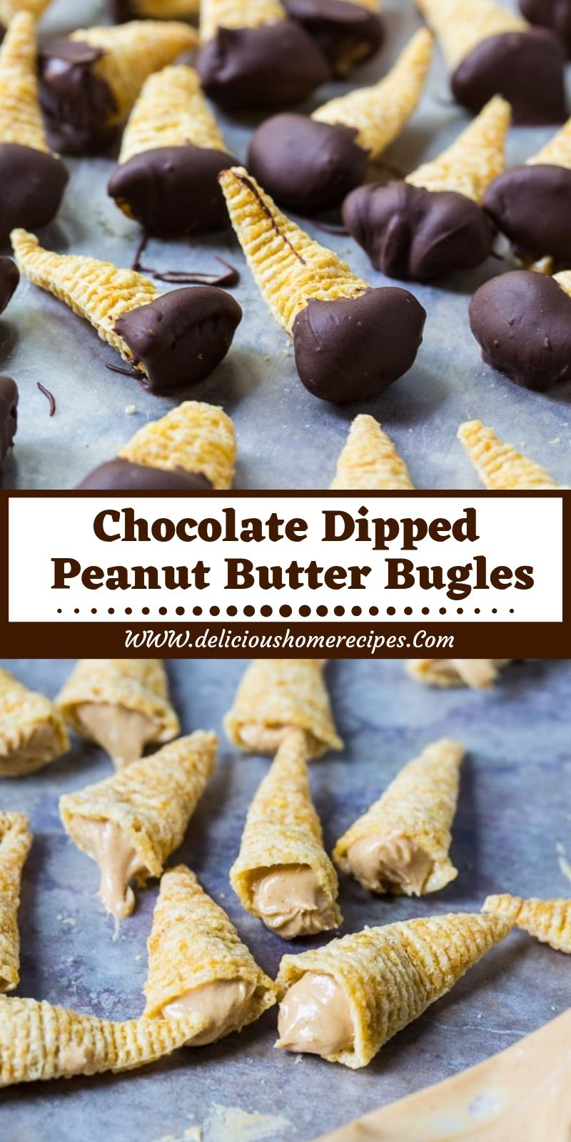 Chocolate Dipped Peanut Butter Bugles images