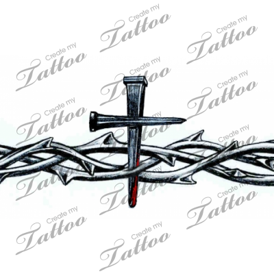 Tribal Cross Armband Tattoos Crown Of Thorns Armband Crossbleed Createmytattoocom Thorn Tattoo Ring Tattoos Arm Band Tattoo