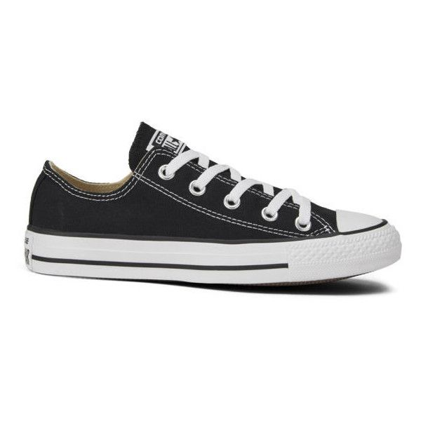 Converse Unisex Chuck Taylor All Star OX Canvas Trainers (1,175 MXN) ❤  liked on Polyvore featuring shoes, sneakers, converse, zapatos, black, ...