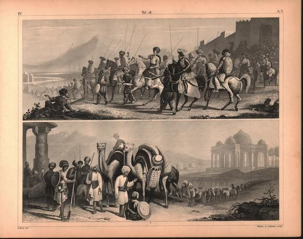 Rajah of Cutch English East Indies Antique Print 1857