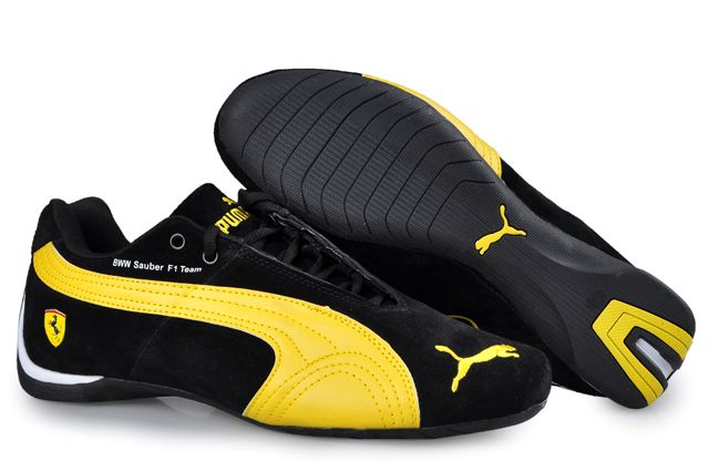 8622b2cde6a2 Puma BMW Sauber F1 Team Shoes Black Yellow