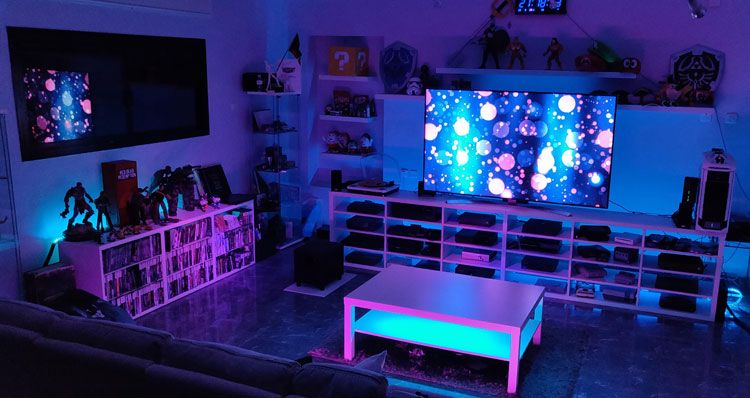 40 Best Video Game Room Ideas Cool Gaming Setup 2020 Guide Video Game Rooms Video Game Room Game Room