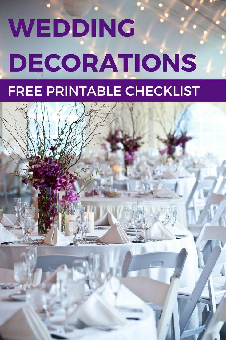 Lavender themed wedding decor  Wedding Decorations on a Budget A Free Printable Checklist  Rustic
