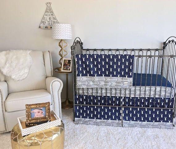 baby boy crib bedding navy stag crib bedding boy bumperless baby