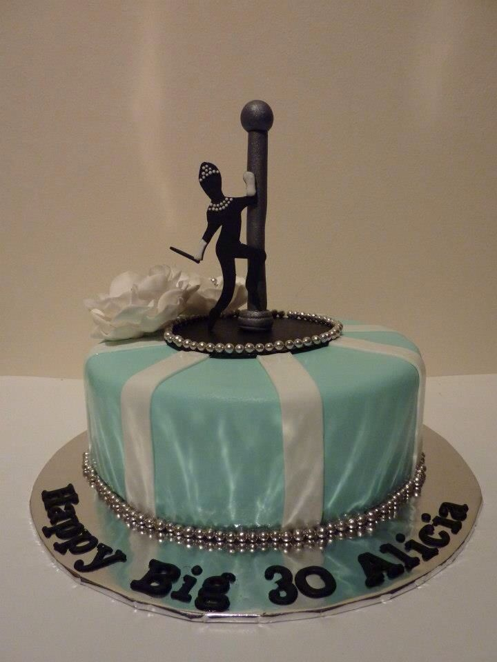 Pole Dancer (Audrey Hepburn sillhouette) Cake