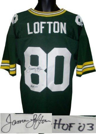 quality design bfddf 72f2e James Lofton signed Green Bay Packers Green Prostyle Jersey ...