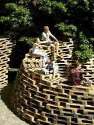 Image result for pallet furniture festival installations