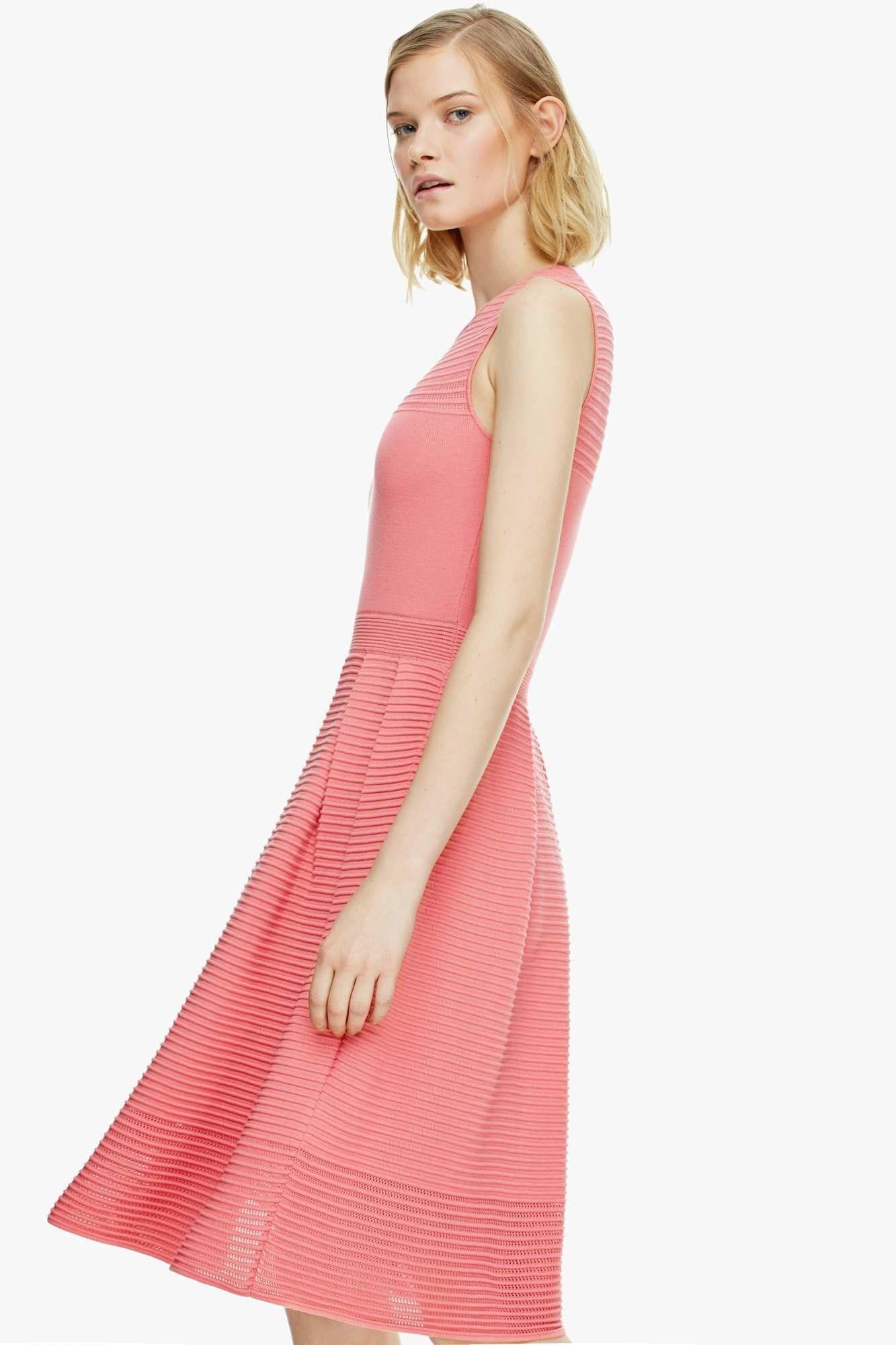 Vestido de punto con corte bailarina vestidos adolfo for Vestidos largos adolfo dominguez outlet