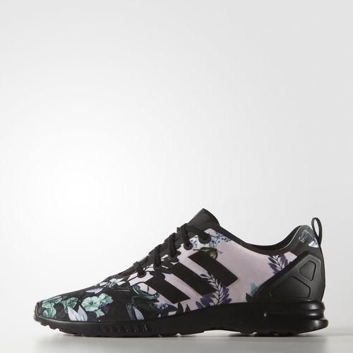 Zebra Print ZX Flux Smooth Shoes Black | Adidas, Adidas