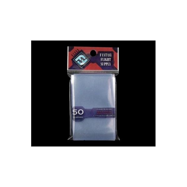 Protege las cartas de tus juegos con estas fundas.  Fundas tamaño Mini Europeo 44 x 68 mm  en paquetes de 50 uds.