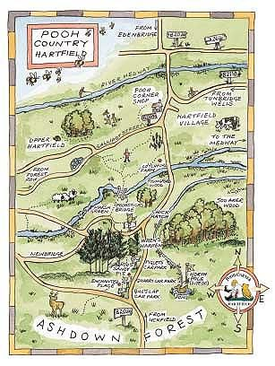 the real pooh places 100 acre wood ashdown forest enchanted place