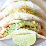 {Crockpot} Salsa Verde Honey Lime Chicken Tacos - A Latte Food #honeylimechicken