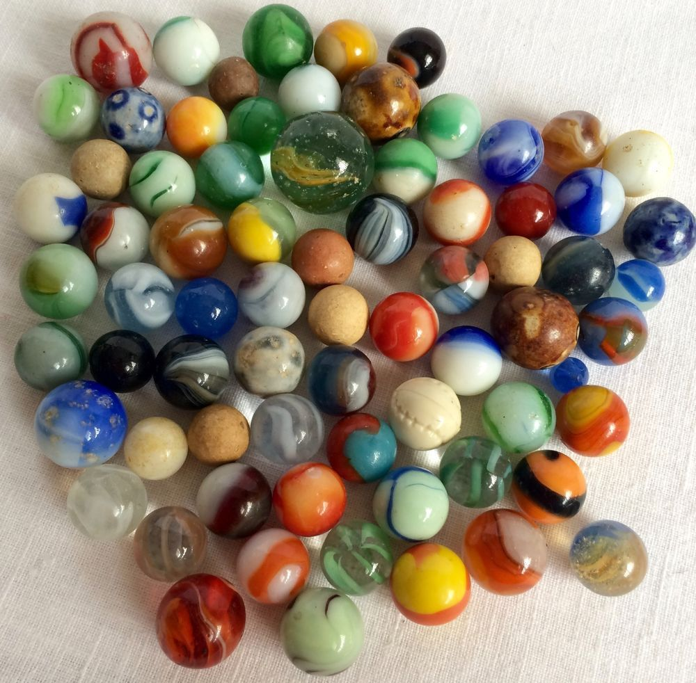 Mixed Lot Of Vintage Glass Marbles From Estate Unbranded Mixed Glass Marbles Marbles Images Marble