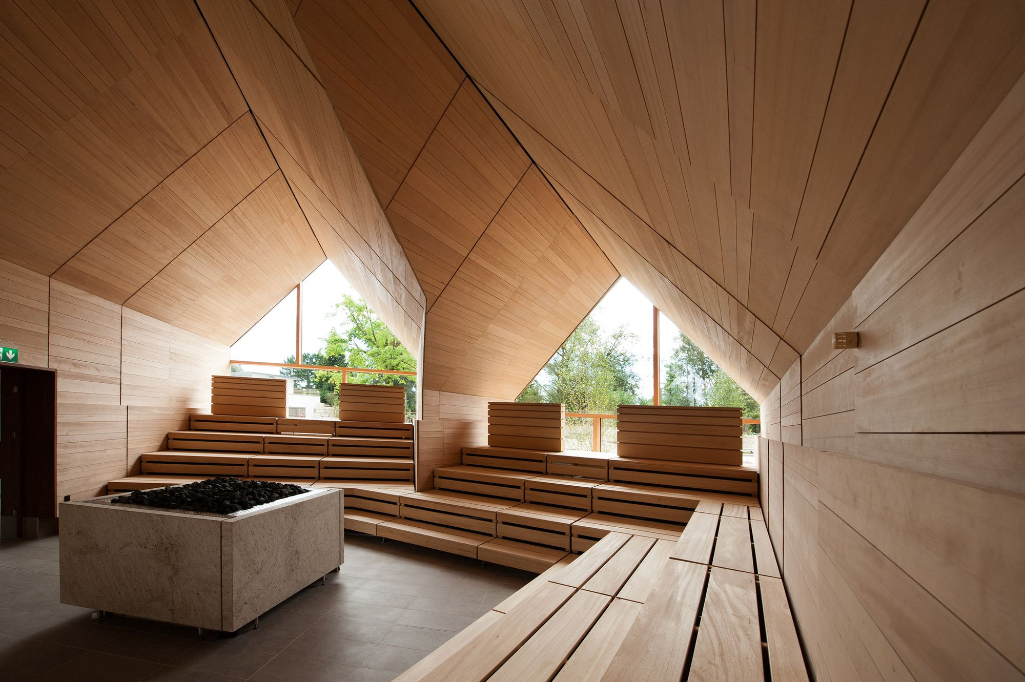 Jordanbad Sauna Village / Jeschke Architektur&Planung | Saunas ...