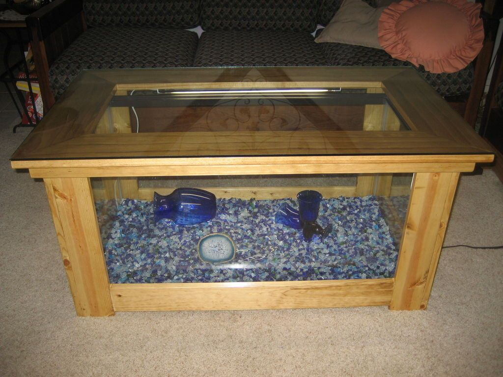 Spectacular diy fish tank coffee table free guide and for Fish tank table stand
