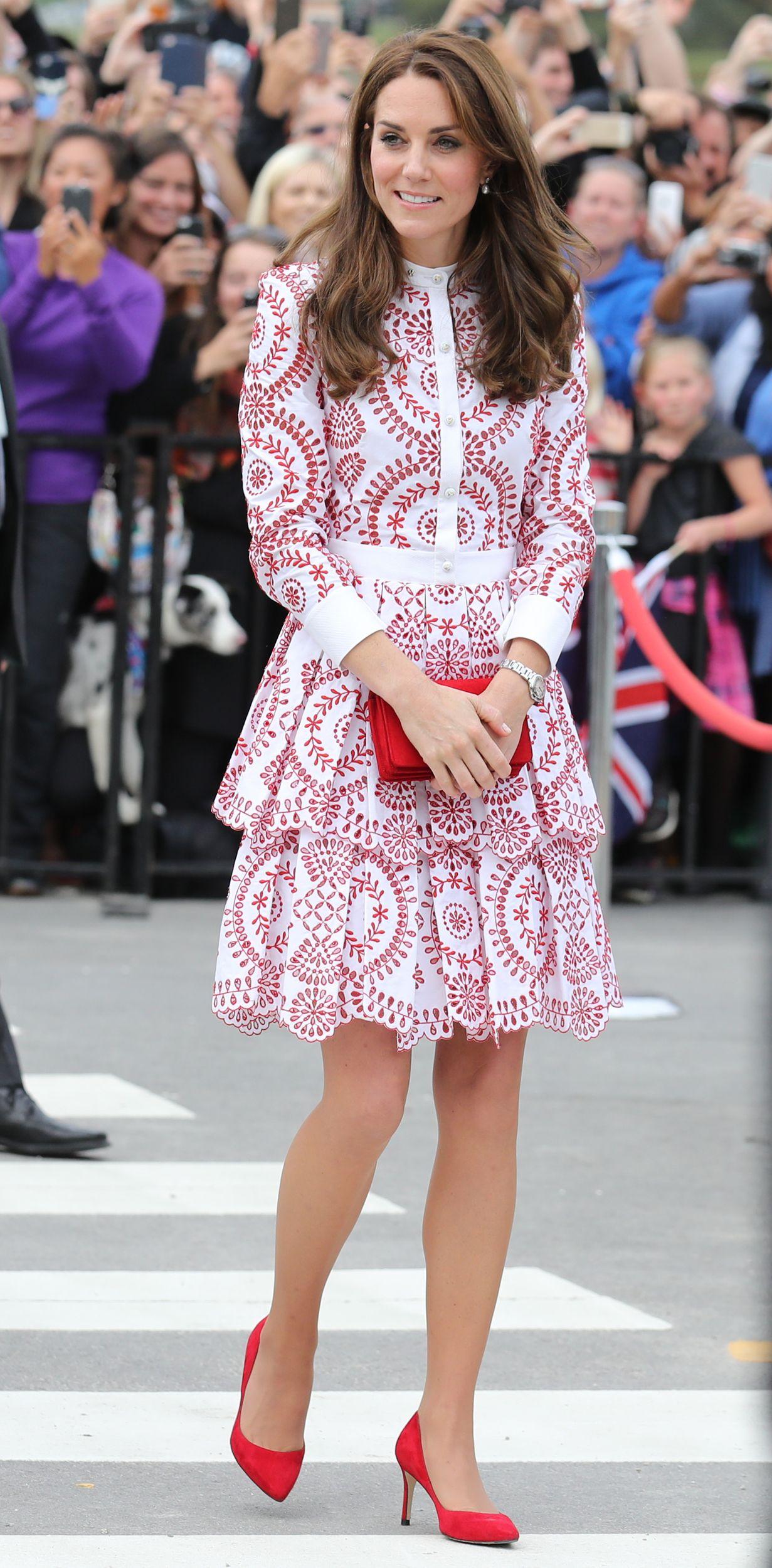 Lace dress kate middleton  Kate Middleton chose white lace  again  for Royal Ascot
