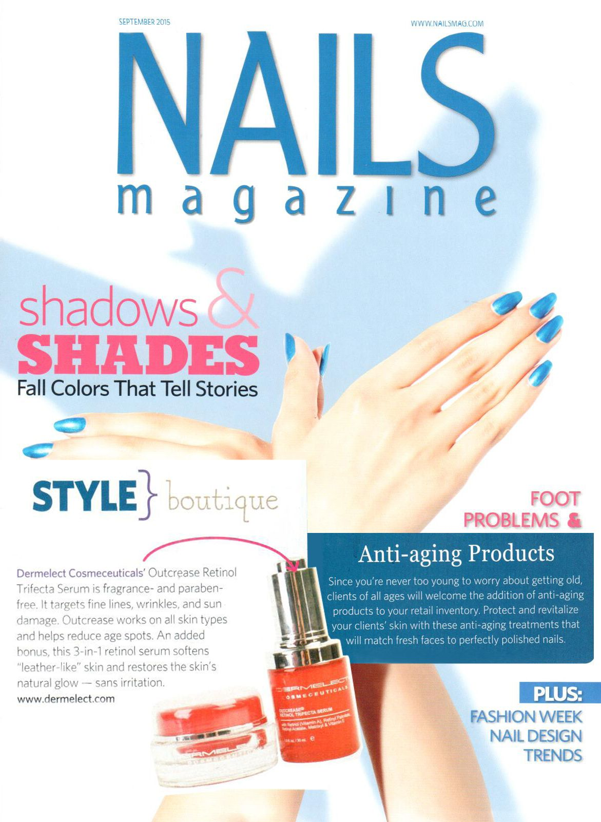Nails Magazine Style Boutique featuring Dermelect Cosmeceuticals ...
