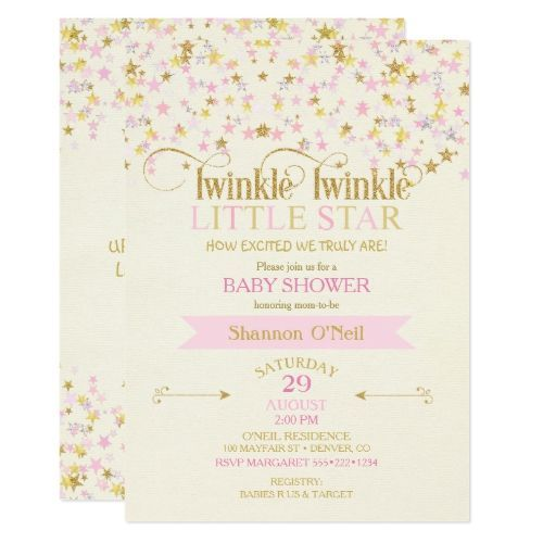 Twinkle Little Star Baby Shower Pink Gold Creme Invitation | Zazzle.com    Twinkle Little Star Baby Shower Pink Gold Creme Invitation   #Baby #creme #Gender-neutralpartyideas #Gold #invitation #little #Pink #shower #Star #twinkle #zazzle #Zazzlecom