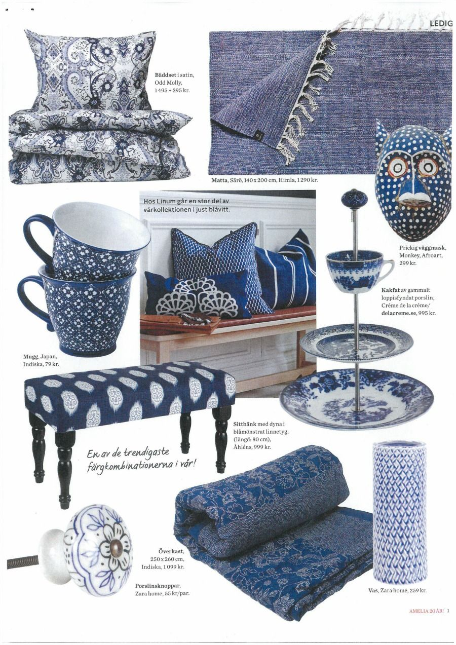 """""""Blue & White"""" - Odd Molly home collection bedset in Amelia Sweden, February 2015"""