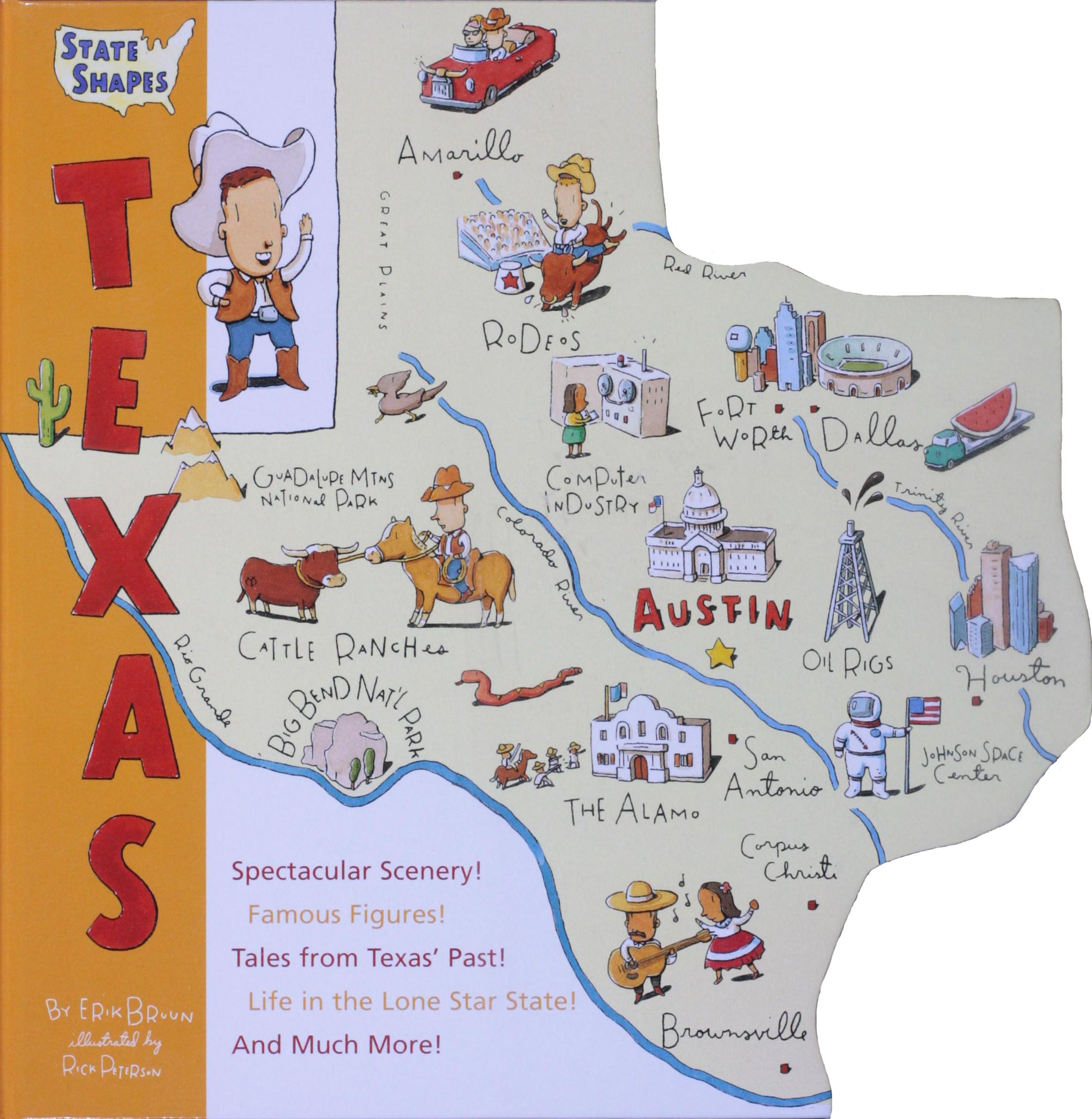State Shapes Texas Written By Erik Bruun And Illustrated