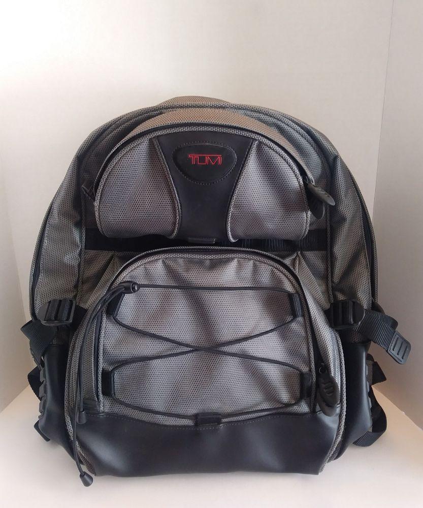 b35174a65 Tumi T2 Gray Ballistic Nylon Laptop Travel Backpack 17 Grey Silver ...