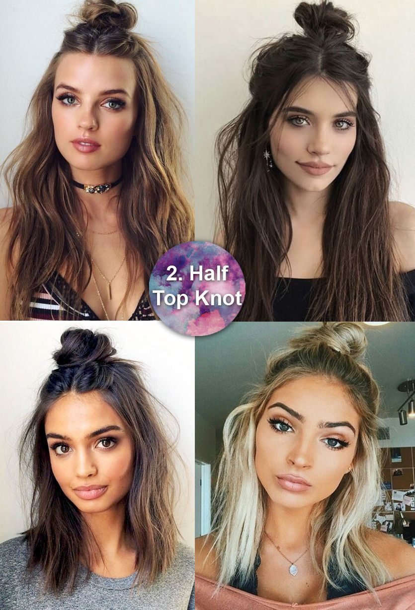 Why did not i try this before half up messy bun m easy long
