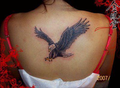 42ea885b6f8d2 Feminine Eagle Tattoos | Eagle Tattoo Designs : Eagle Back Tattoos For Girls