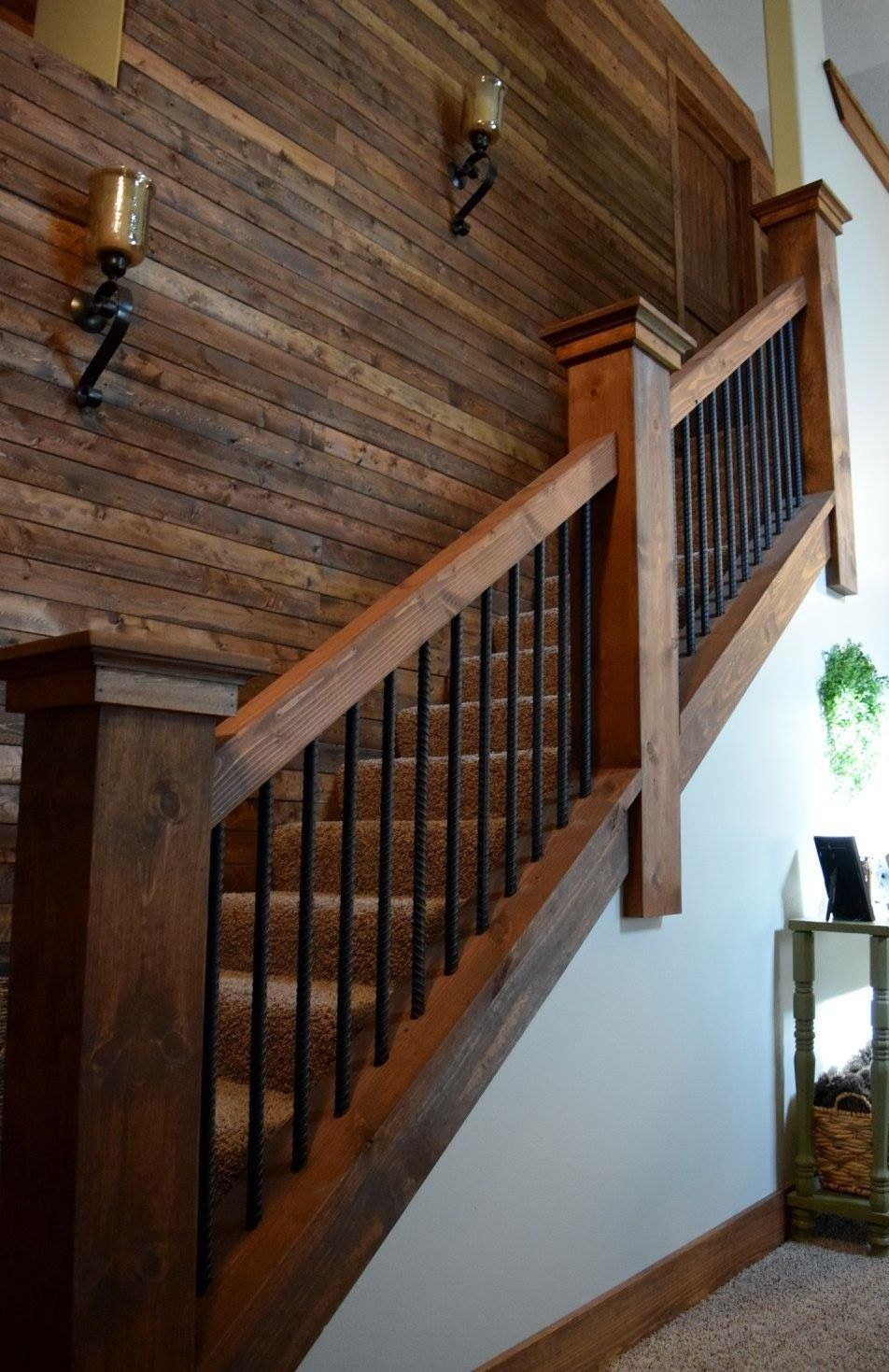 52 Best Staircase Lighting Images On Pinterest: Rebar Staircase Unique Farmhouse Industrial Rustic