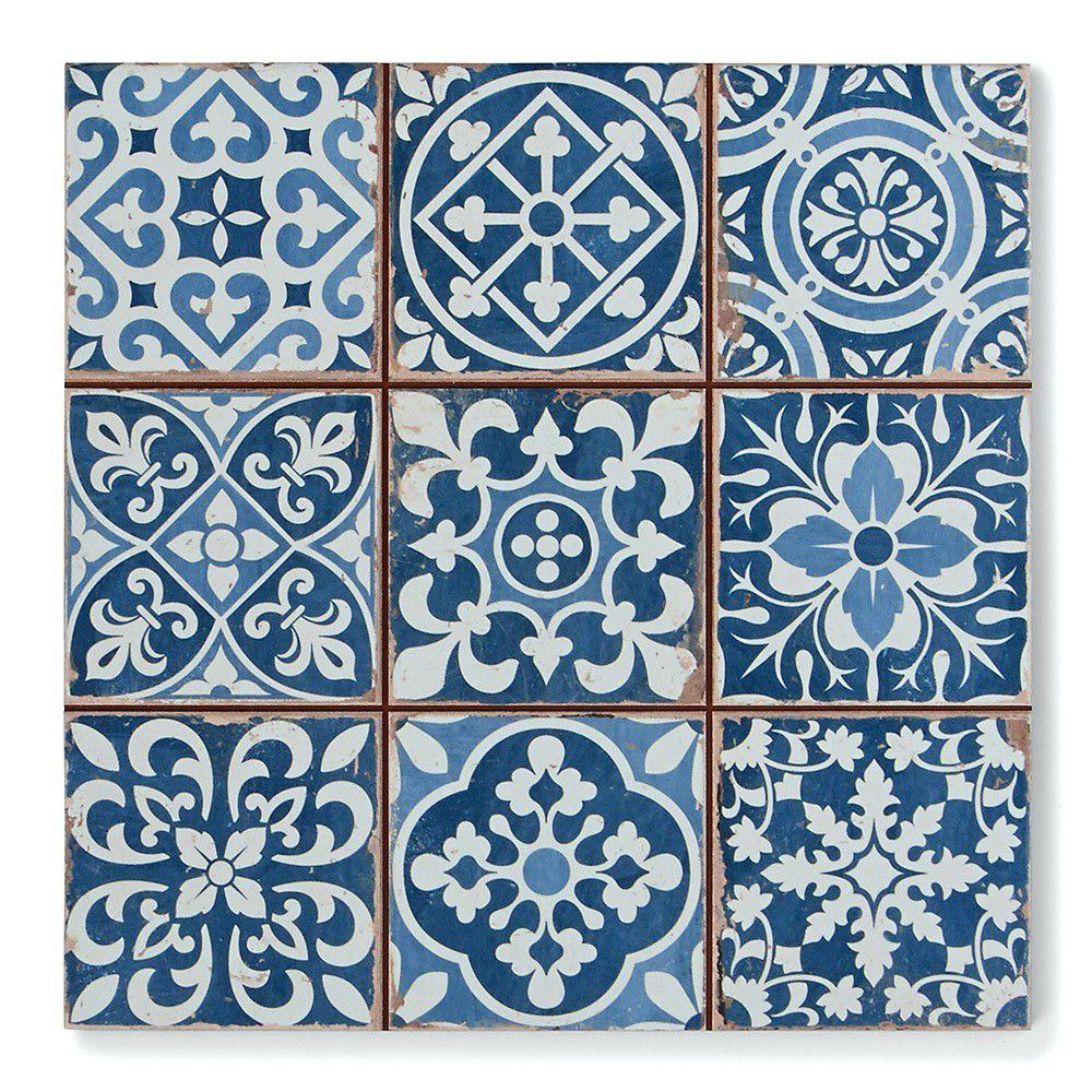 Tiles:Tapestry Blue Tapestry Blue Pattern Floor Tiles Grey Pattern ...