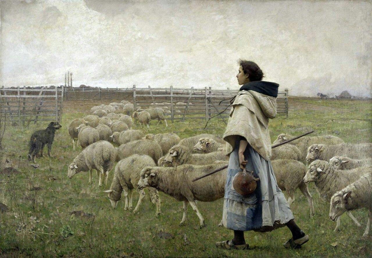 Le Retour du Troupeau, Charles Sprague Pearce (1851—1914)