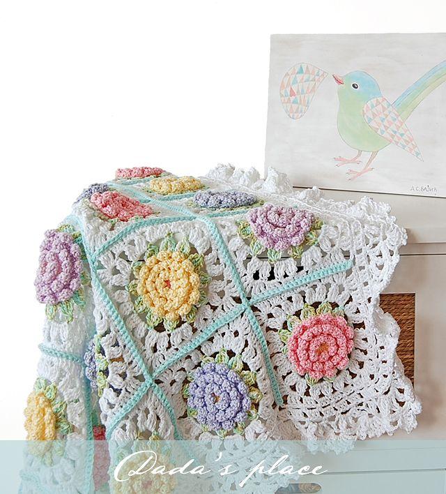 Victorian flower baby blanket | Crochet | Pinterest | Manta, Flores ...