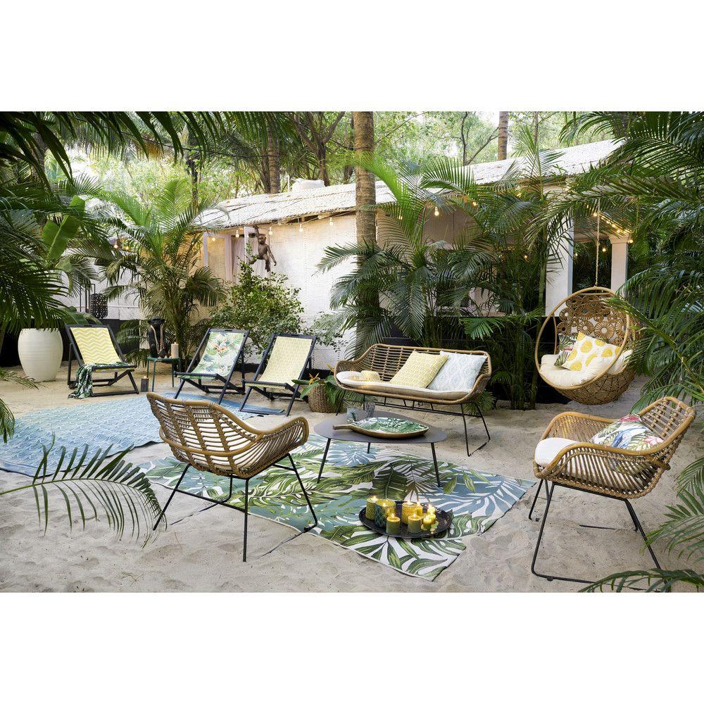 Fauteuil de jardin vintage en résine | Jardin et terrasse ...