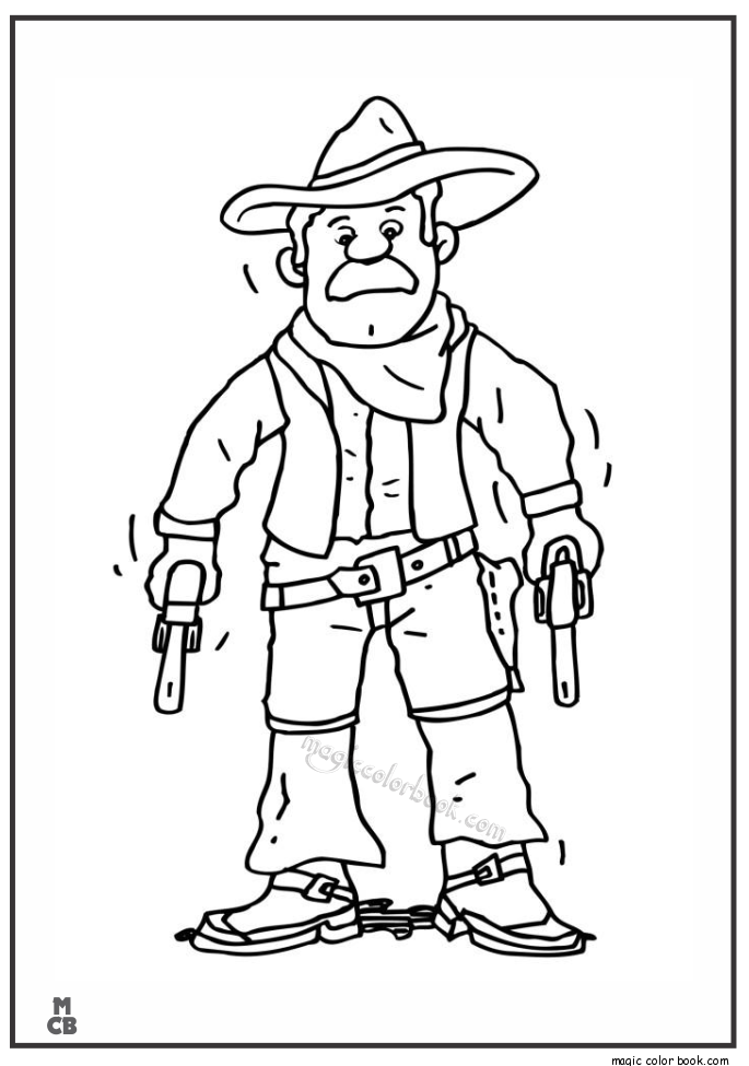 Cowboys Coloring Free Colouring Pages For Kids