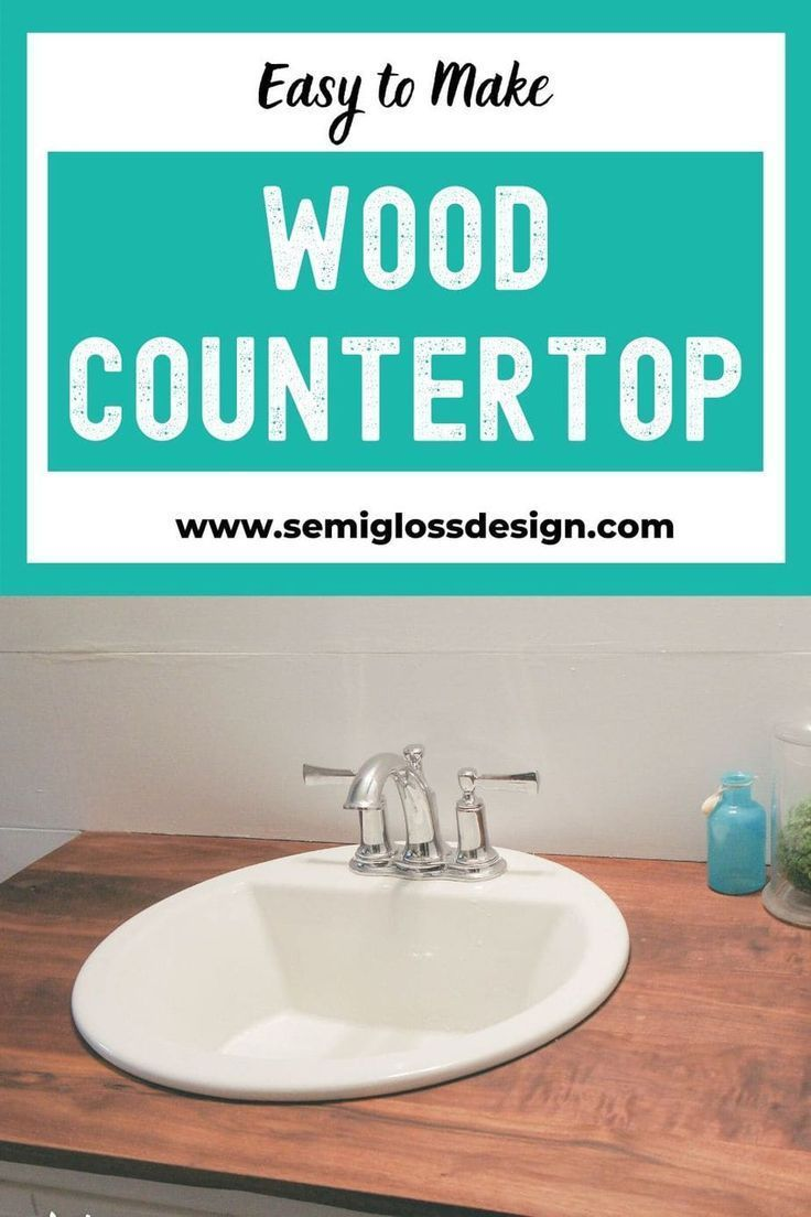 The Foolproof Guide to DIY Wood Countertops for a Bathroom -  A wood countertop ...#bathroom #countertop #countertops #diy #foolproof #guide #wood