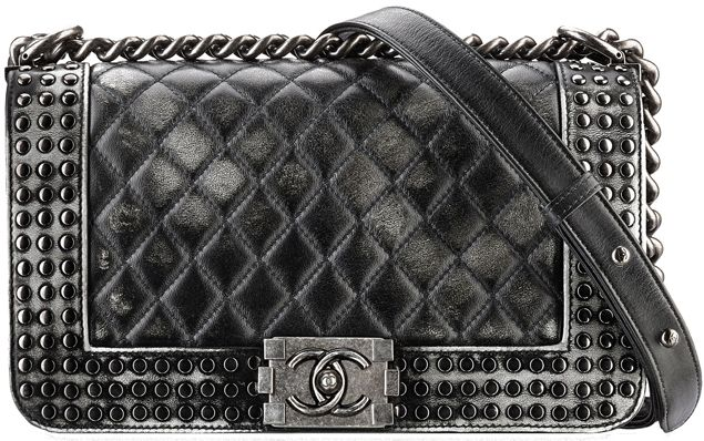 245413f5731e72 Boy Chanel Faded Studs Flap Bag Style code: A92408 Size: 5.9′ x 9.8′ x 3′  Price:$5,300 USD