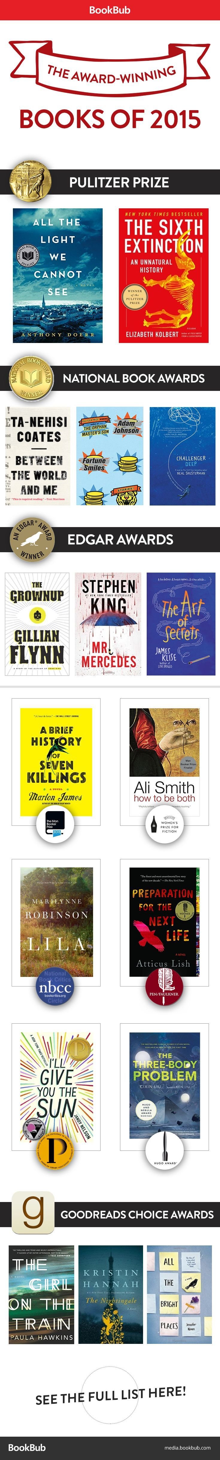 21 Fantastic Books That Won Awards in 2015 | Book Lists ...