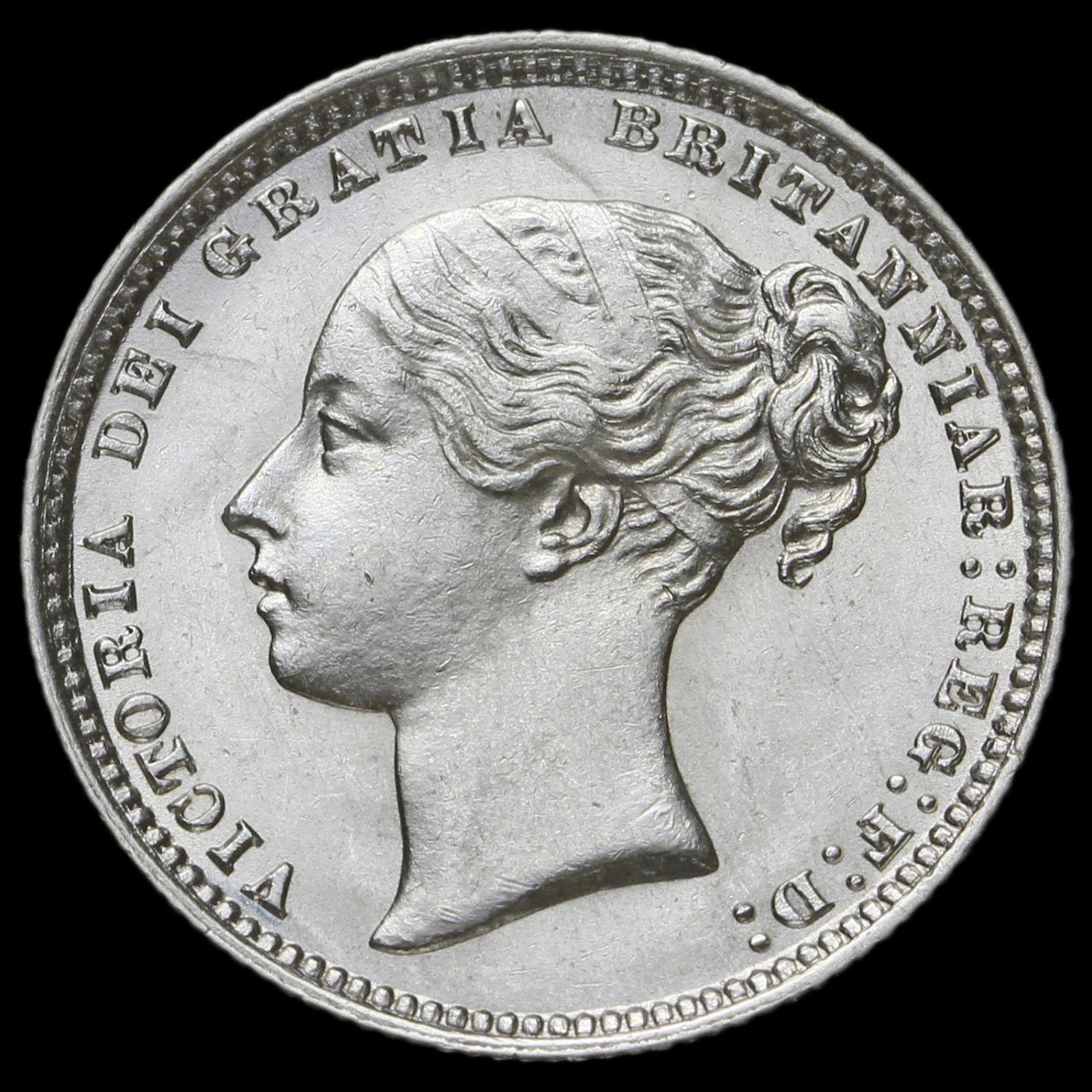 1877 Queen Victoria Young Head Silver Shilling, AU
