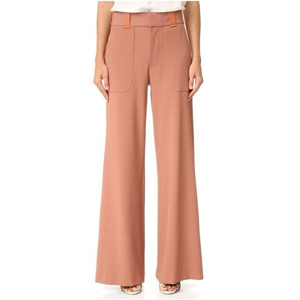 7d4e6510f1b See by Chloe Wide Leg Trousers (543 AUD) ❤ liked on Polyvore featuring pants