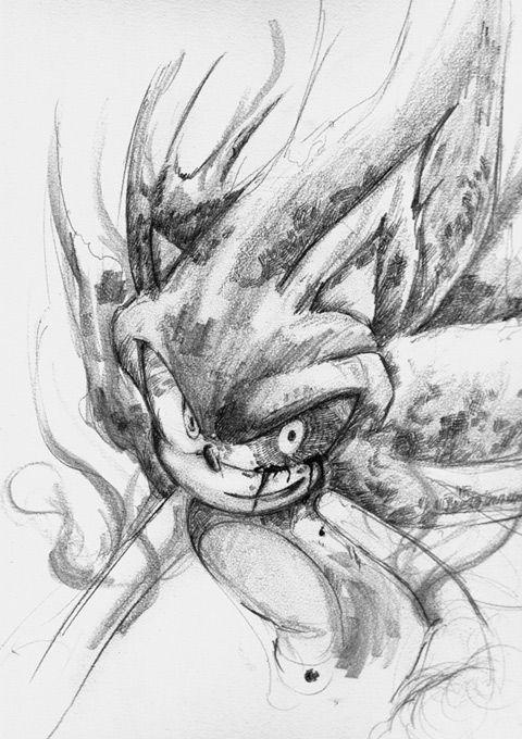 Dark Sonic By Bbpopococo On Deviantart Sonic Sonic Fan Art Sonic Art