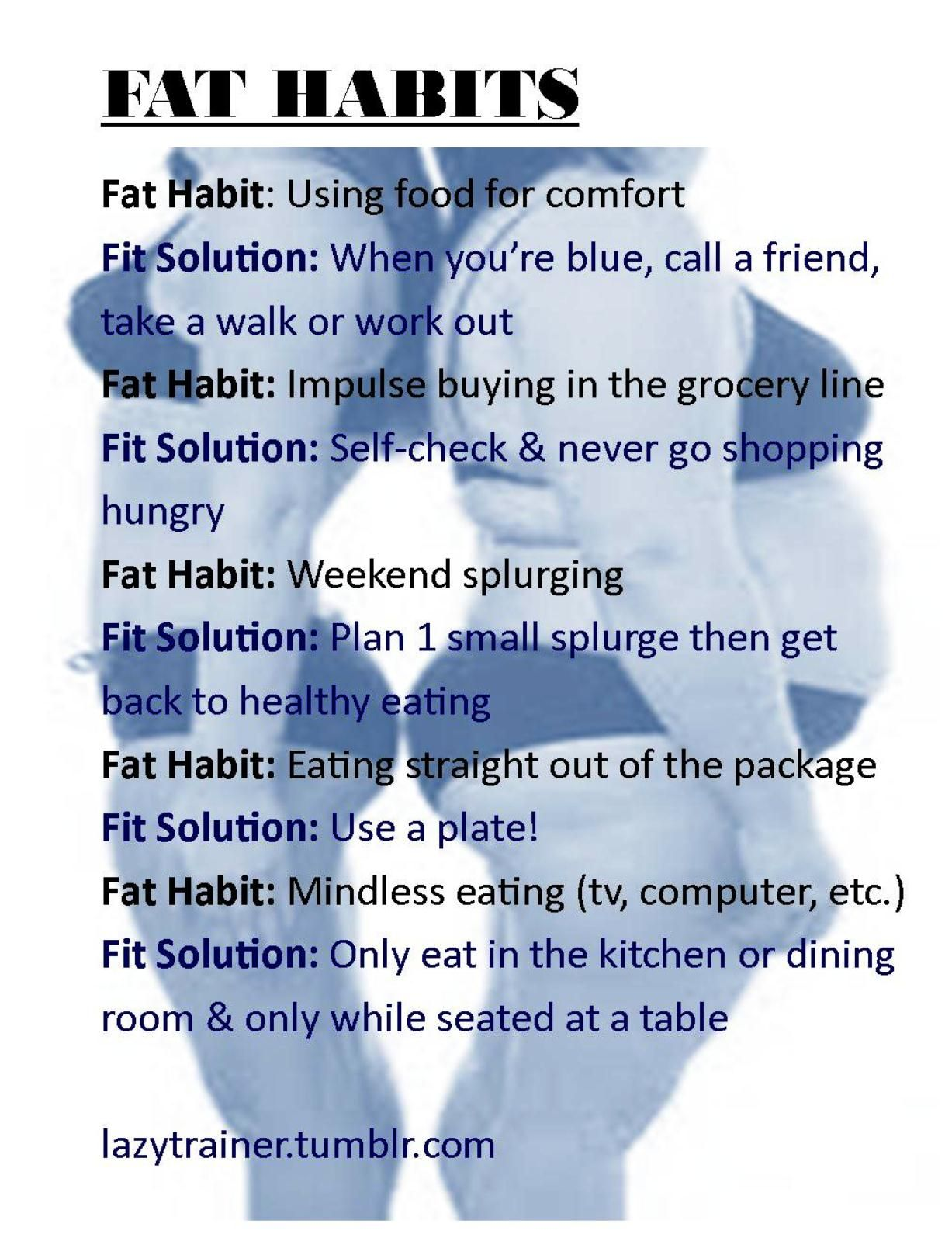 Fat habits | The Lazy Trainer | Pinterest | Fat and Weight loss