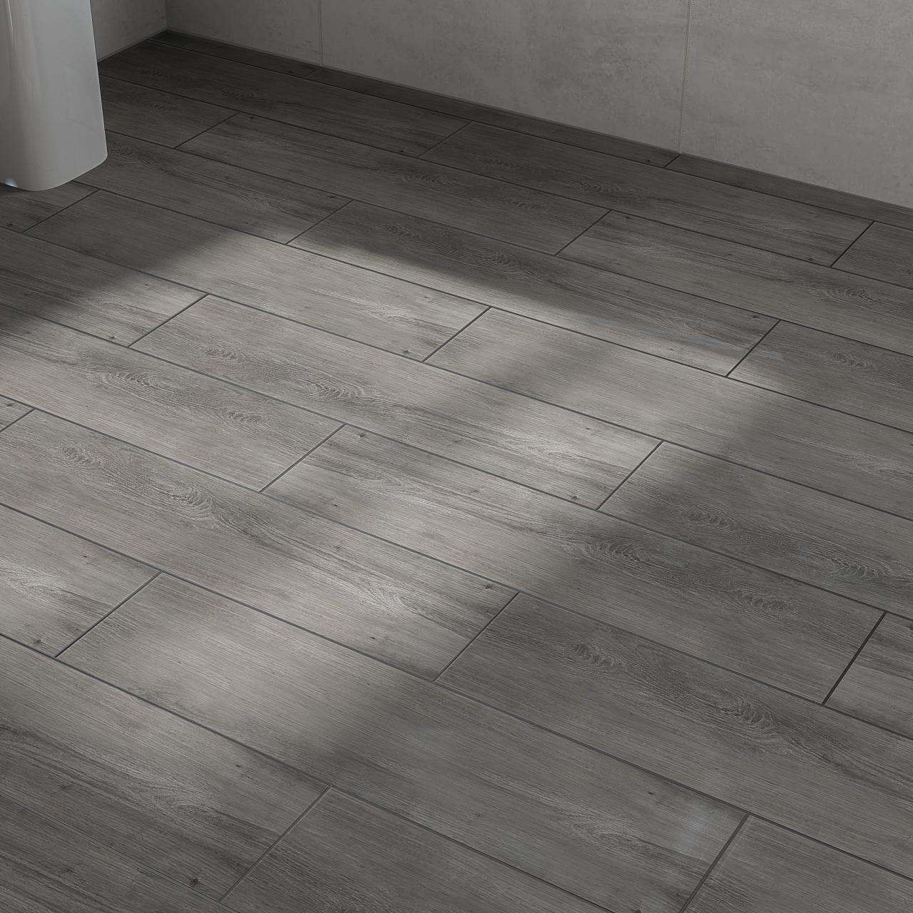 Scandinavia Grey 15 5cm X 62cm Porcelain Tile In 2020 Porcelain Tile Tiles Gray Porcelain Tile