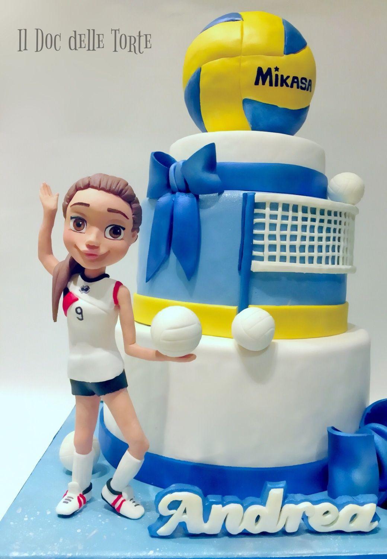 Volleyball Cake Cake By Davide Minetti Cakesdecor Volleyball Cakes Volleyball Birthday Cakes Cake