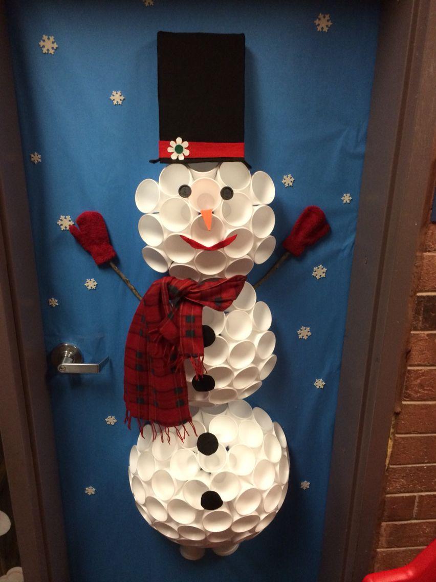 Styrofoam Cup Snowman