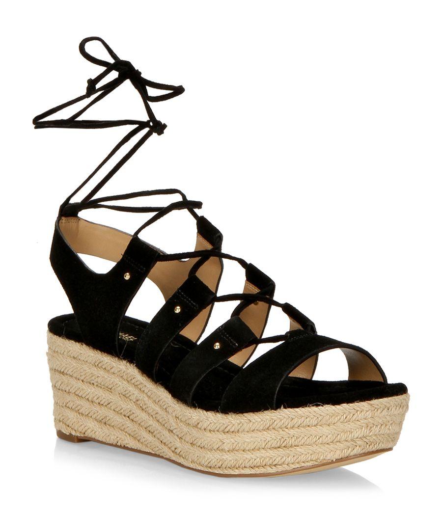 Sofia Suede Wedge Sandals 18Bsj