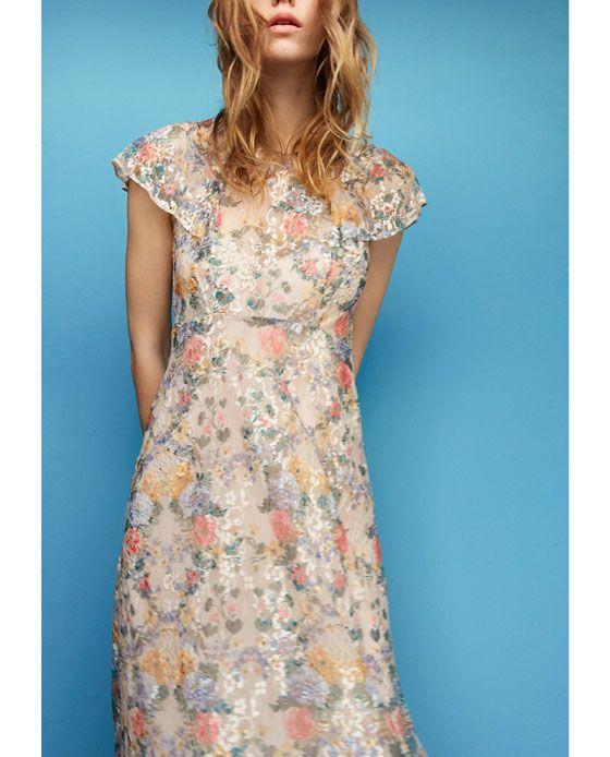 荷葉邊蕾絲洋裝